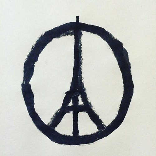 Repost @jean_jullien: Peace for Paris This illustration by…