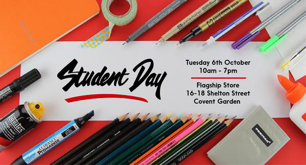 {Event} Tuesday 6 Oct 2015, Student Day; lots of art goodies, at London Graphics Centre, Covent Garden LONDON