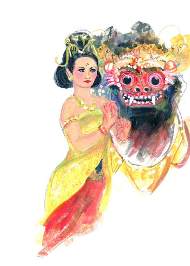 Bali - Barong and Tari Kurung, - photo taken by June Chanpoomidole.