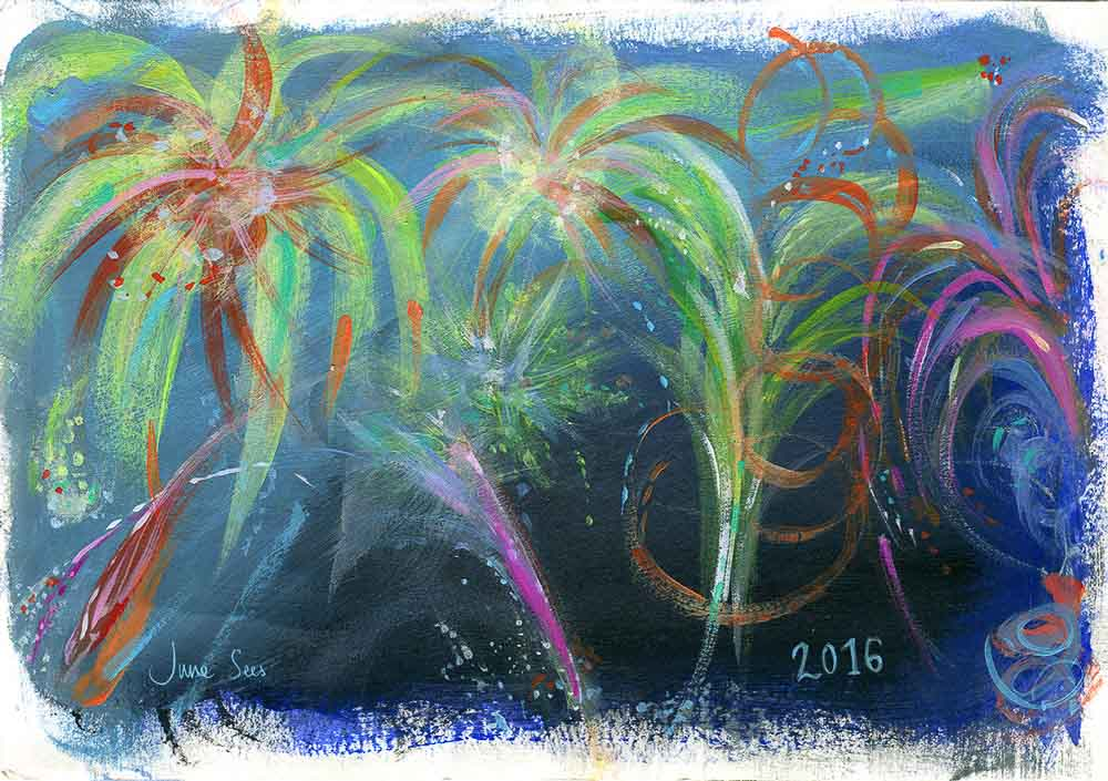 Wishing you a very Happy New Year! { With a beautiful painted illustration}