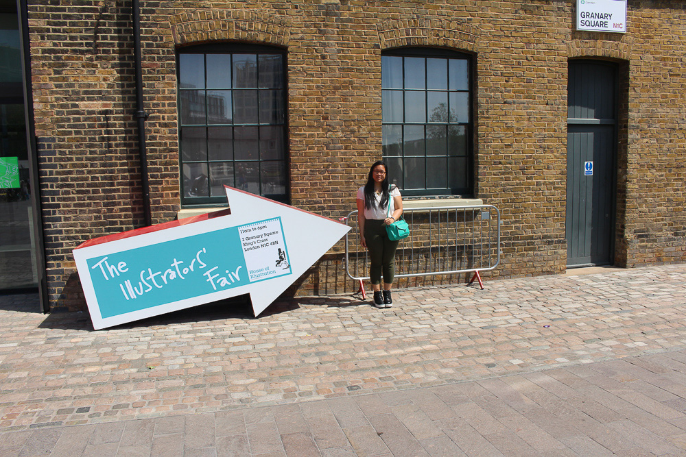 The Illustrators' Fair at the House of Illustration: Gorgeous sunshine day