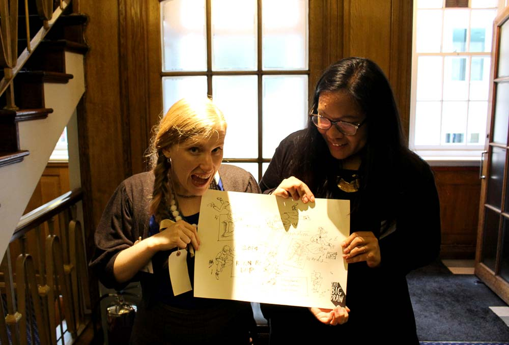 StoryHands Co Founder, June and Jenny at the Campaign for Drawing's Big Draw Awards