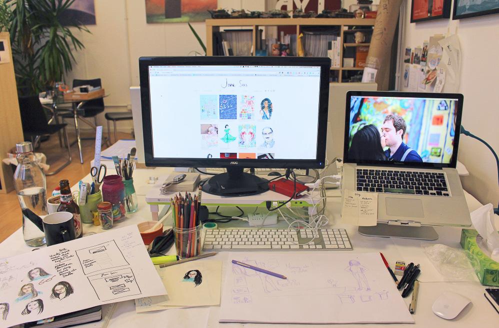 Sneak peek, Behind the Scenes at my new desk space in Kingston-Upon-Thames