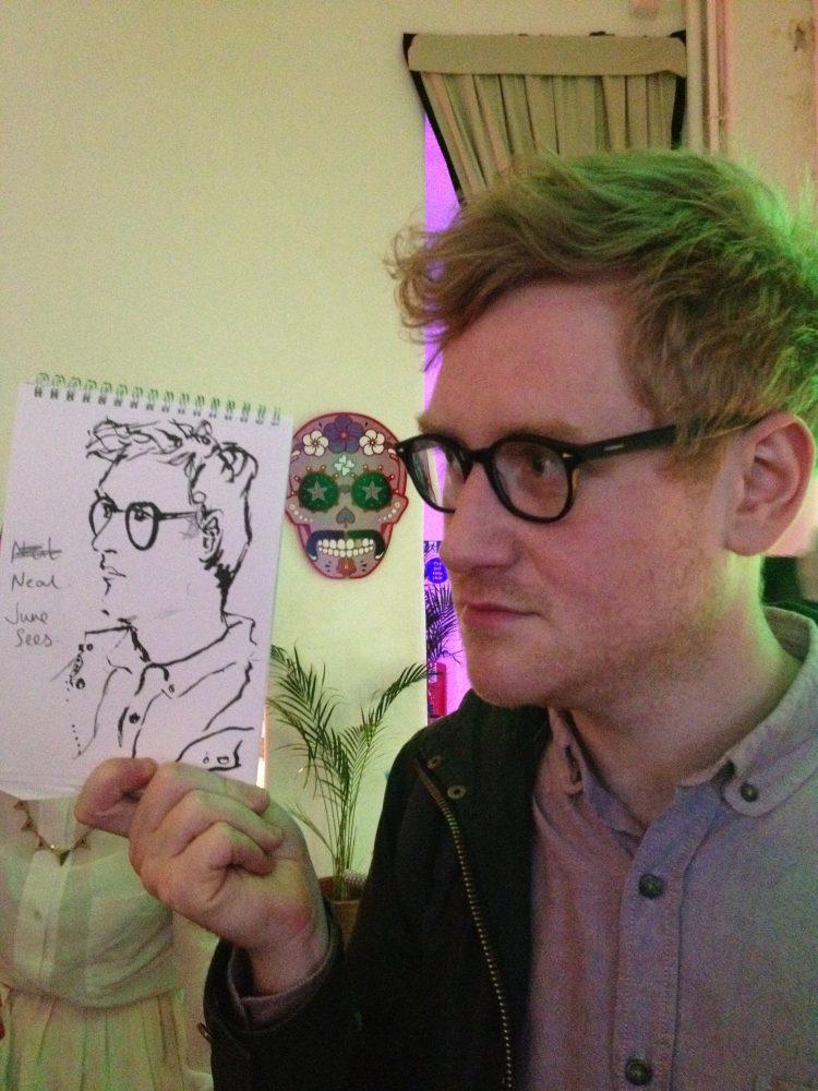 Backscratchers launch party – live drawing